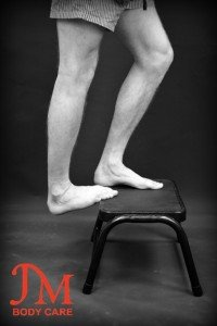 Advance gastrocnemius stretch single leg