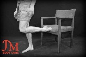 Raised foot Shin Stretch