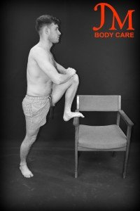 Standing High Leg Bent knee Hanstring Stretrch copy