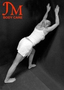 Wall strait leg Calf Stretch